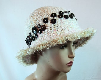 Crochet hat, cloche hat, hats for women, bucket hat, unique hat, statement hat, womens hat