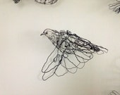 SALE-Flying Pigeon Wire Drawing Sculpture Art