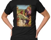 Careful, He Bites T-Shirt - Funny Jesus and Dinosaur TShirt - Mens and Ladies Sizes Small-3X