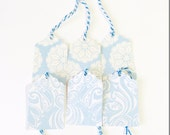 12 Small Size Gift Tags in Blue