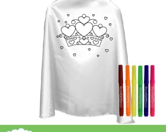 Color Your Own Cape with Fabric Markers : 3 Designs To Choose From! Party Favor, Superhero Party, Activity.
