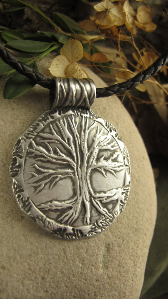 Tree of Life Eternity Pendant in Sterling Silver, Tree of Life Jewelry, Irish Celtic Jewelry, Necklace, Medallion