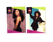 2 Vintage African American Music Trading Cards, Patti Labelle and Karyn White (0053)
