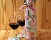 Valentine Wine Bag with a Pair of Glass Slippers