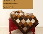 Neutral Squares Blanket Crochet Pattern and Tutorial