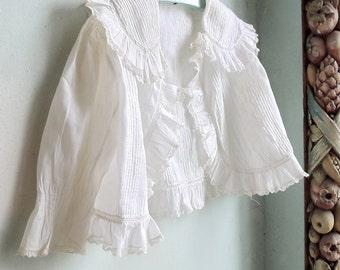 Antique Clothing White Zouave Summer Jacket Toddler Size