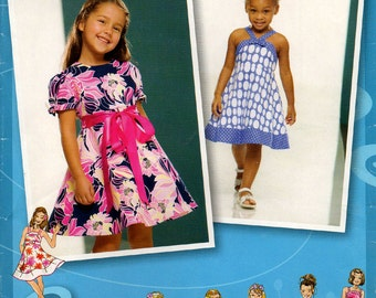 Uncut Girls PROJECT RUNWAY DRESS Pattern Simplicity #2989 Size 4-8 Easter Spring Fashions Sewing