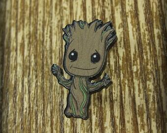 Baby Space Tree Brooch Pin - Laser Acrylic