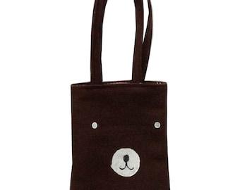 SALE brown bear  bag