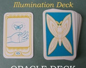 "ORACLE DECK ""The Golden Moth Illumination Deck"" // tarot deck / tarot cards / tarot card deck / pagan cards / pagan tarot / divination"