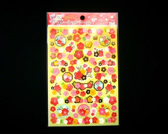 Plum Blossom Stickers - Japanese Washi Stickers - Traditional Japanese Stickers - Flower  Stickers - Ume Stickers S224