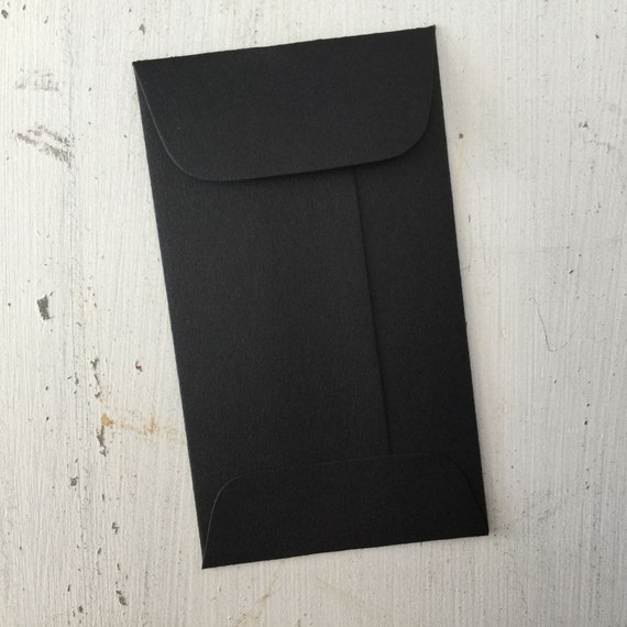 100 black mini envelopes with flap coin envelope gift card