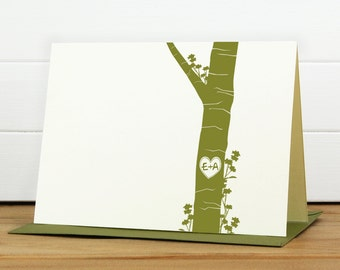 Custom Stationery Set / Custom Stationary Set - 4-EVER Custom Note Card Set - Couples Engagement Wedding Thank You