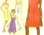 Evening dress brides or bridesmaid gown sewing pattern McCalls 6029 Create it Wedding Party Sz 4 to 12