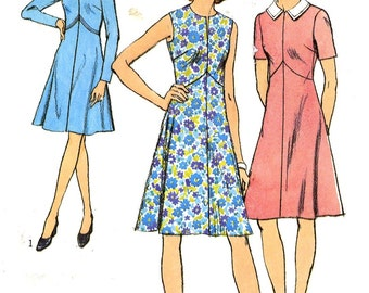 70s Retro Style dress plus size vintage sewing pattern Style 4206 Bust 43