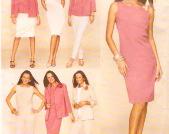 Dress top shirt jacket pants skirt wardrobe outfits sewing pattern McCalls 3157 UNCUT Sz 12 to 16 or 18 to 22