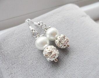 Bridesmaid Jewelry - Bridesmaid Gift, Wedding Gift with Jewelry Box