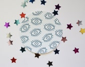 Eye Pattern Round Sticker Matte Finish