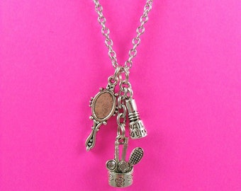 Beautician Charm Necklace
