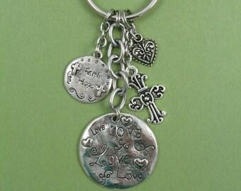 Faith Cross Keychain