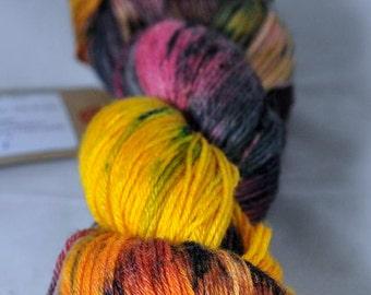 "Hand Dyed Merino / bamboo 4ply Yarn (New London 4ply) - ""Harvest"""