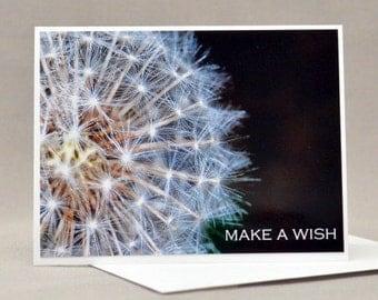 Make a Wish Dandelion  Birthday Card