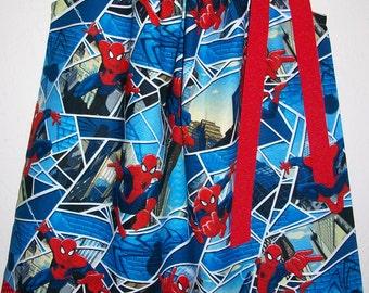 Pillowcase Dress Spiderman Dress Girls Dress Superhero Party Superhero Dress with Spiderman baby dress toddler dress Kids Clothes