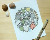 nature collection card: carefully arranged