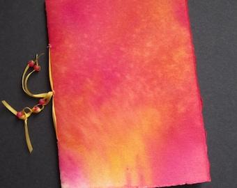 Colored Ink Stonehenge Paper Handmade Mini Notebook PSS 2287