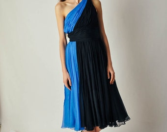 Vintage Gathered Chiffon Gown