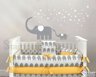 Elephant Wall Decal - elephant decal - elephant sticker wall decal wall decor graphics - K136
