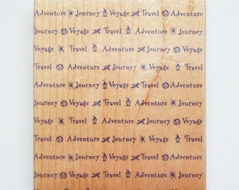 Travel Background Stamp -Large Background Rubber Stamps  - Hero Arts Wordprints Travel, Adventure, Journey
