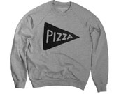 Unisex Pizza Sweatshirt Heather Grey Valentine's Day gift for him gift for men dad gift husband gift for dad sweatshirt, american apparel