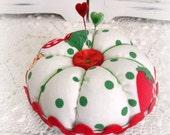 Retro Strawberry vintage jello mold Pin cushion Jewelry Keep ECS svfteam RDT