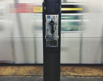 Subway Payphone 8x10 Photography Print