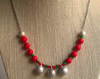 Super SALE! Silver Jingle Bells Necklace Christmas Holiday