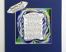 Broken Chain Sympathy Poem Loss Of Loved One Poetry Spiritual Meditation Family Friends Remembrance Gift Heartful Art by Raphaella Vaisseau