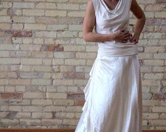 Hemp and Silk Wrap Skirt