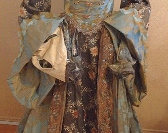 Custome ordered Renaissance Costume Ren Fest costume Medieval Queen elaborate custom made one of a kind art to wear wearable art costume