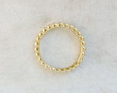 Gold Bead Ring | 2mm Bump Band | Minimalist Gold Ring | Simple Wedding Band | 14k Gold Stacking Ring | Recycled Gold Ring