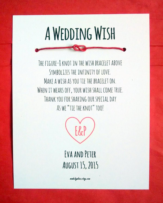 Monogram Heart A Wedding Wish Infinity Knot Wish Bracelet