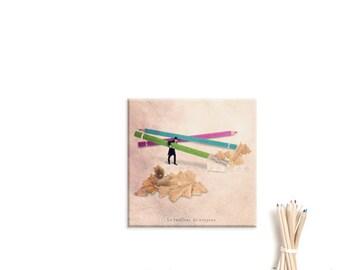 Wall Art Canvas, Photo Canvas Prints, Back to school, Teacher gift ideas, Colorful decor, Graduation, nursery decor