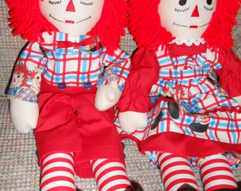 Raggedy Ann and Andy Dolls (20 inch)