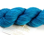 Cancun--hand dyed sock weight yarn, merino and silk, (437yds/100gm)