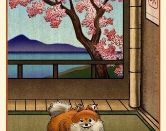 Pomeranian Japanese Styled Print