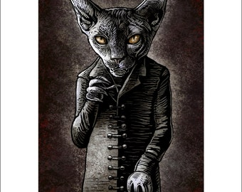 Nosfercatu-  8 x 10 signed print Cat as Classic Vampire