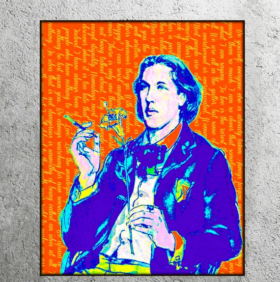 Art And Decoration Oscar Wilde Of Oscar Wilde Vibrant Art Print Quote Minimalist By Artdecadence