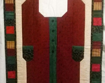 Quilted Santa Art - Christmas Decoration