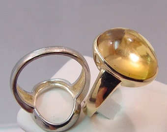 16x12mm 10.30 carat Citrine set in 14K yellow gold ring, also available in White gold 0253 y