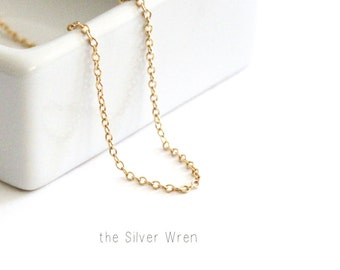 Gold Necklace, Perfect Layering Necklace,  Dainty Necklace, Gold Chain Necklace, Bridesmaids Gift, Gift for Her, The Silver Wren